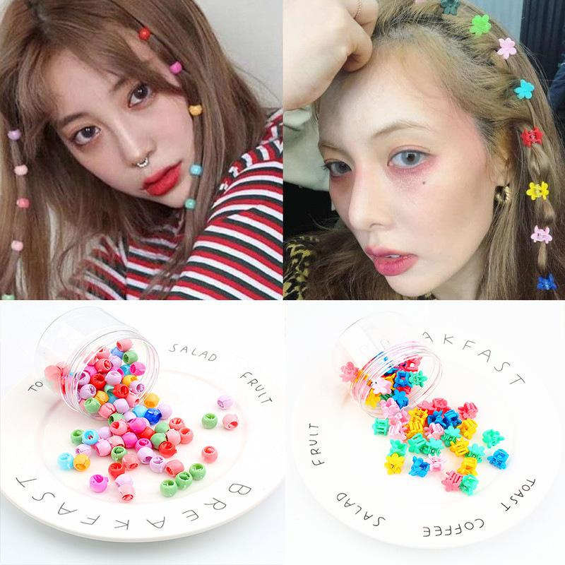 the Same Hairpin, Candy, Colorful Flowers, Net, Red Clip, Korean Gold Hairpin Head