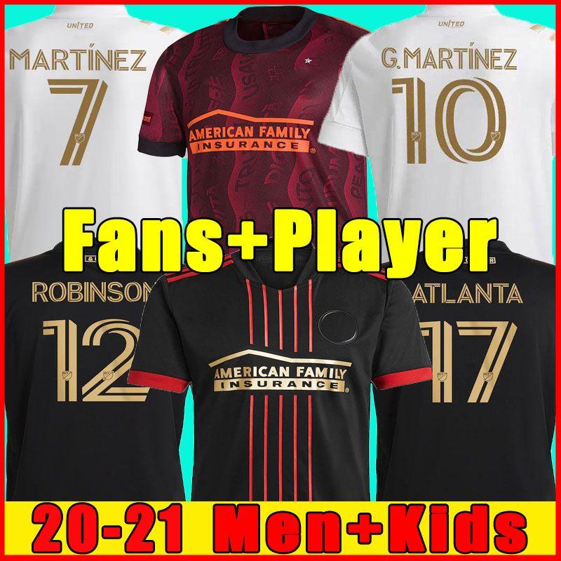 Martinez 21 22 애틀랜타 유나이티드 홈 블랙 멀리 화이트 축구 유니폼 가르자 존스 Villalba Almiron 2021 축구 셔츠