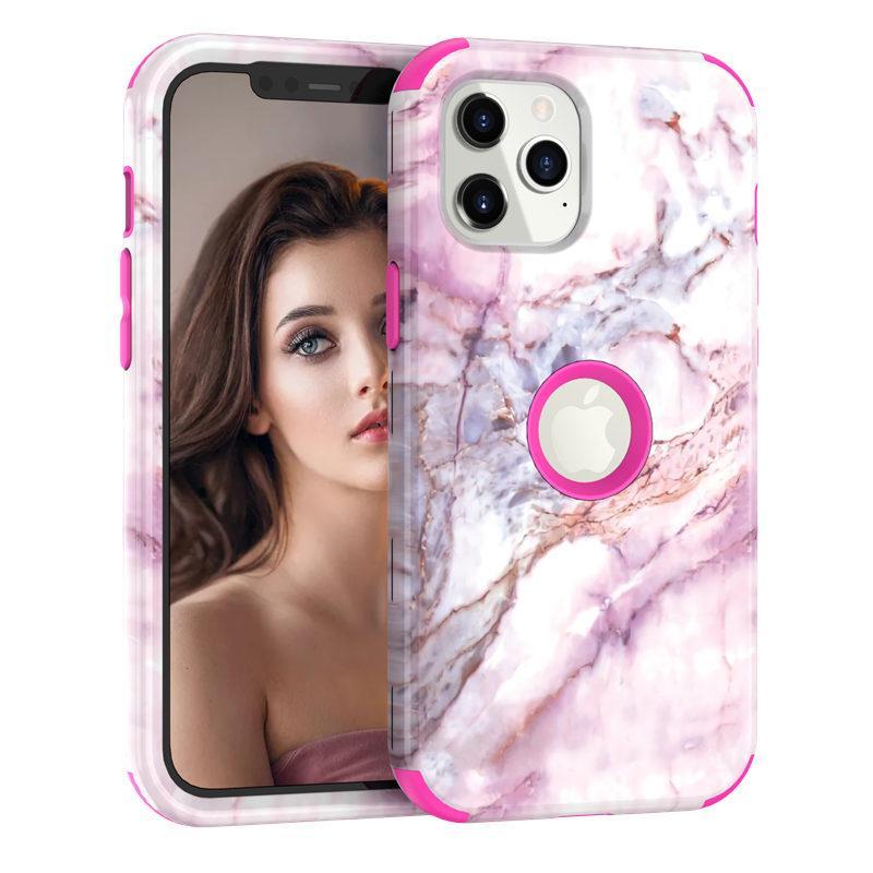 Texture de marbre Coque Téléphone Pochette pour iPhone 12 11 Pro Max XR XR XS MAX X 7 8 Plus 12 Mini 11Pro 11Pro 12Pro Couvercle arrière arrière