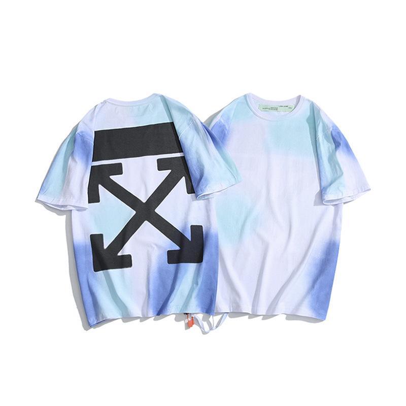Chao Marque Off Tokyo Limitée Blue Shading Team de T-shirt à manches courtes pour hommes et femmes