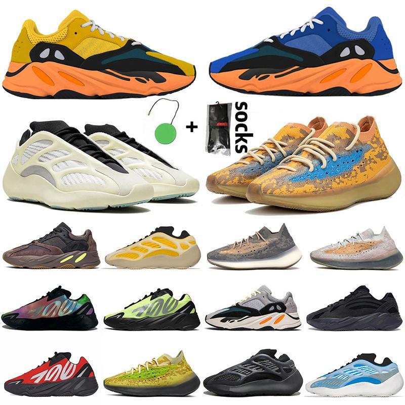 Luxury Frauen Schuhe Männer 3M STATIC RUNNER Boost 700 v2 Running Shoes For Womens Mens Azael Alvah Alien Mist Vanta Herren Damen Luxus Designer Sneakers Größe 46