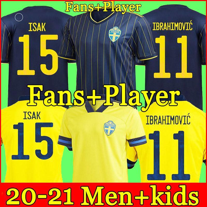 21 22 السويد المنتخب الوطني إبراهيموفيتش فورسبيرج الرجال لكرة القدم الفانيلة Larsson Ekdal Isak 2021 2022 المشجعين النسخة الرئيسية بعيدا كرة القدم قمصان الكبار قصيرة الأكمام + أطفال كيت