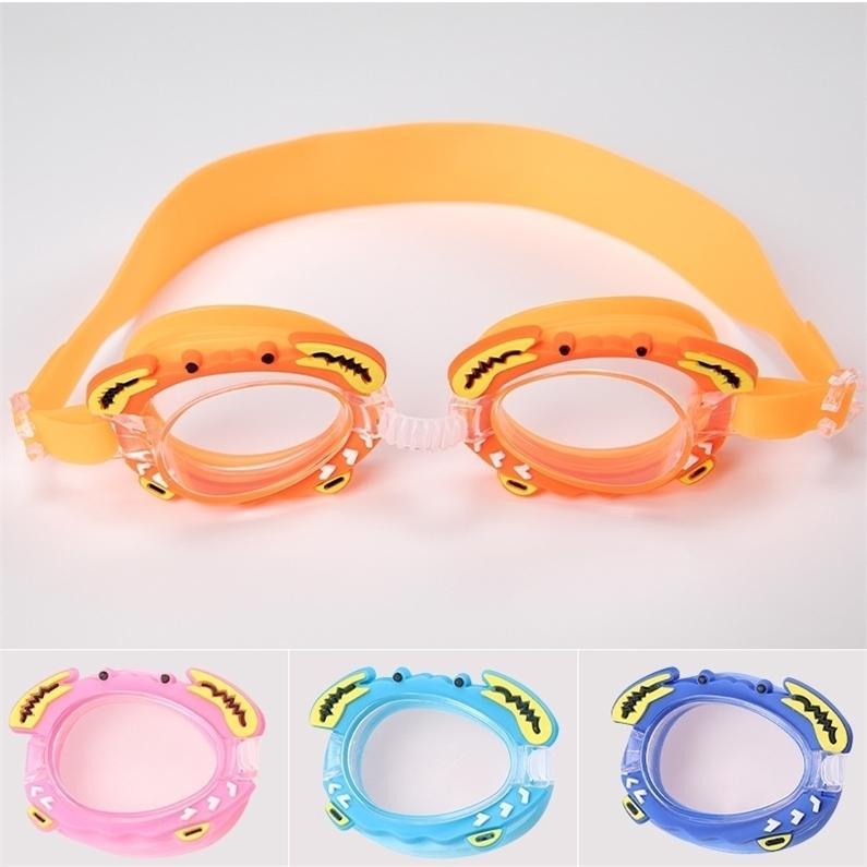 أطفال نظارات السباحة للماء نظارات الغوص نظارات الغوص الرياضات المياه الملونة للجنسين الصبي فتاة مكافحة الأشعة فوق البنفسجية مكافحة الضباب H26SMIZ