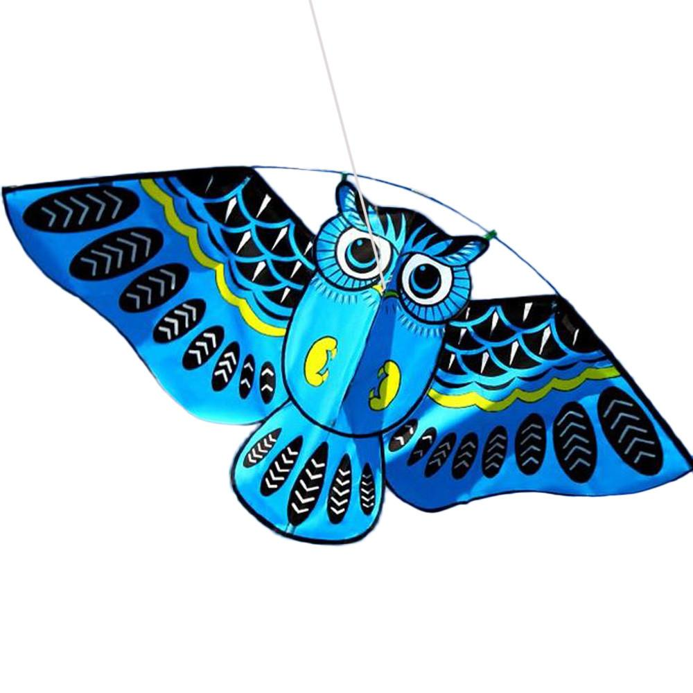 Telotuny 3D Hibou Kites en plein air Voler des jouets pour enfants Sorties familiales en plein air Fun Sports Kites Kite Dual Ligne Delta Kite Z0524