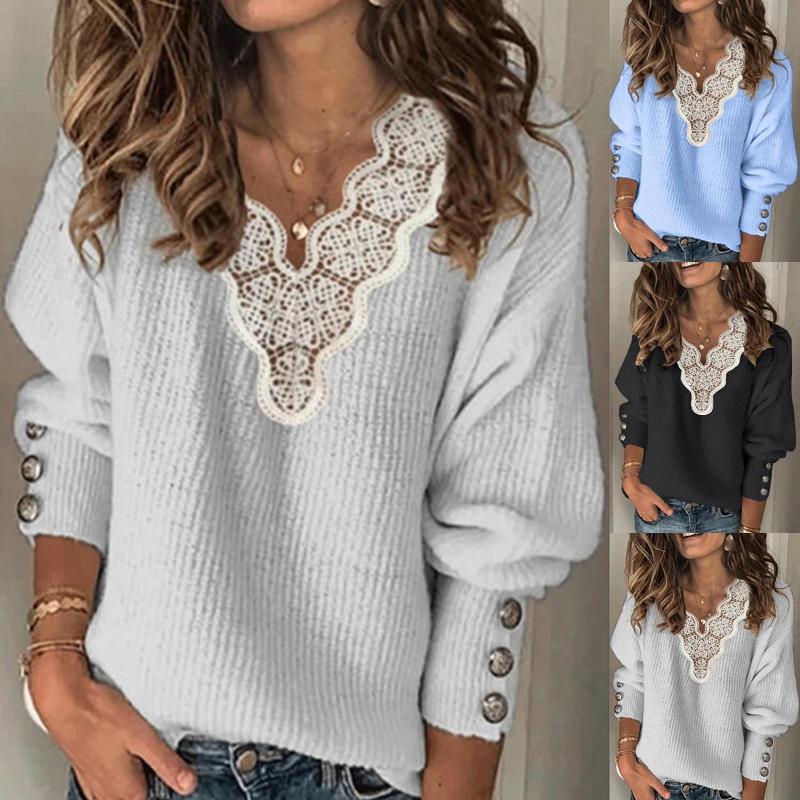 Женские свитеры свитер негабаритные белые винтажные зимние женщины V шеи вязаные теплые обрезанные корейские свитер женские блузки