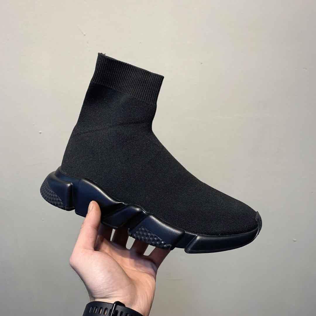 جديد إمرأة رجل وسادة الهواء سرعة المدرب أحذية رياضية الحياكة الانزلاق على جودة عالية عارضة المشي الأحذية الراحة جميع chaussures الأسود