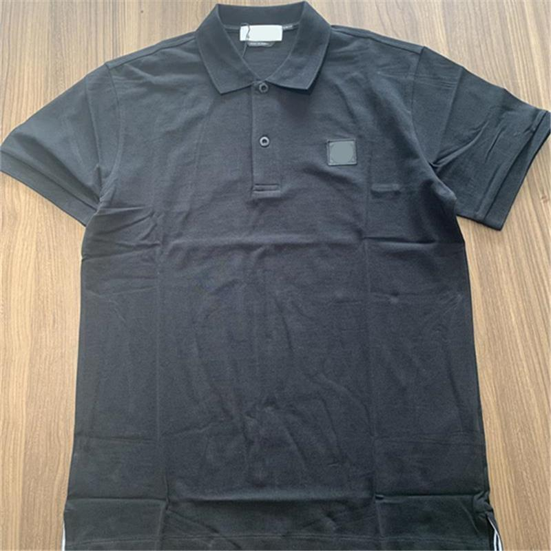 Summer Loisirs Temps confortable Hommes Polos Simple Broderie Logo Solide Polo Chemise Mode Couple Couple Couple Sleeve