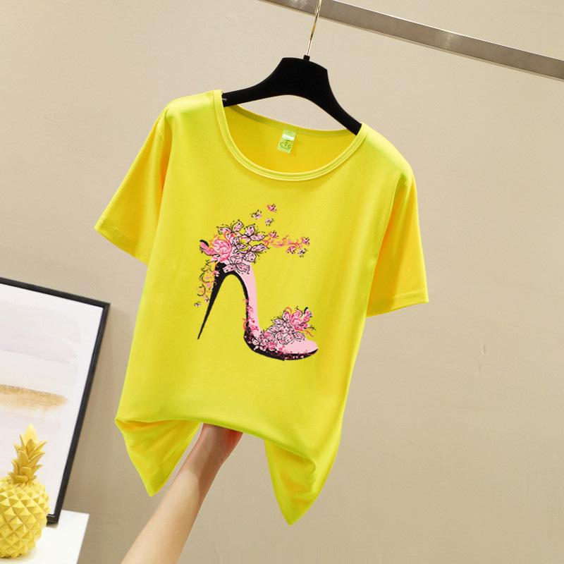 T-shirts Womens T-Shirt Baumwolle Top T-Shirt Femme Kawaii Tshirts Frauen Tops Sommer T-Shirts Camisetas Mujer Verano