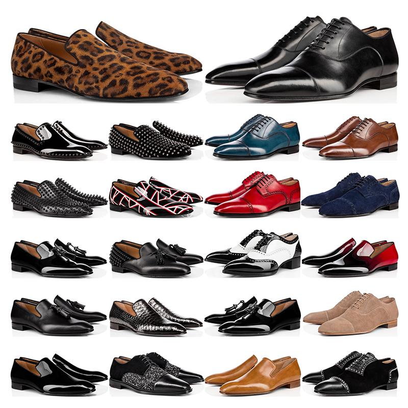 red bottoms  dipleri Hakiki Deri Oxford Ayakkabı İş Erkek bayan Yürüyüş Düğün Parti boyutu ile 38-47