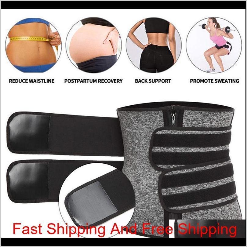 US-Lager, Taille Trainer Frauen Abnehmen Hülle Bauch Reduzieren Shapewear Bauch Shaper Sweat Body Shaper S Qylsff Hairflippers2011