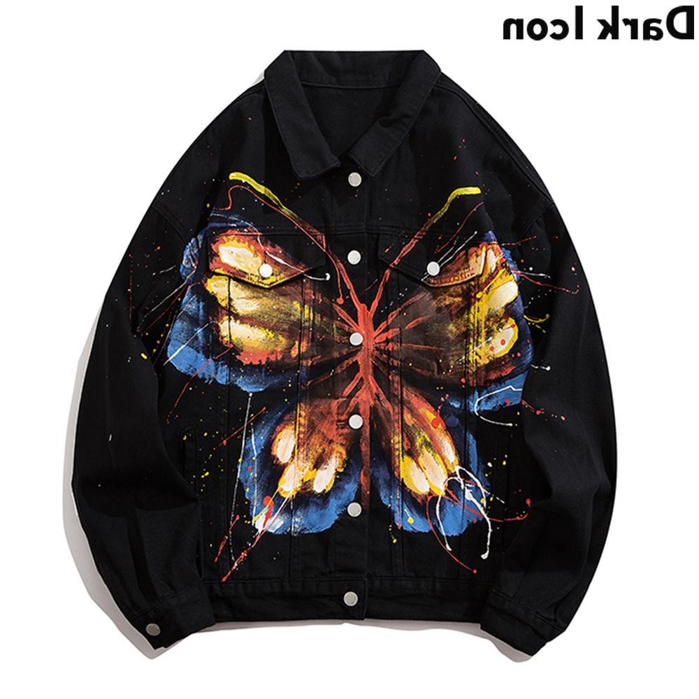 Sombre peinture peinture papillon jean janière jolie veste vestes de coloceau vestes pour hommes