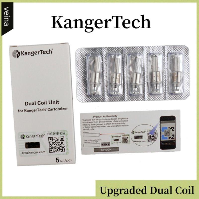 Authentic Kanger Aggiornato Dual Coils Head Sostituire teste di ricambio per Kangterch Aerotank Mega T3D EVOD 2 Protak 3 Dual Coil