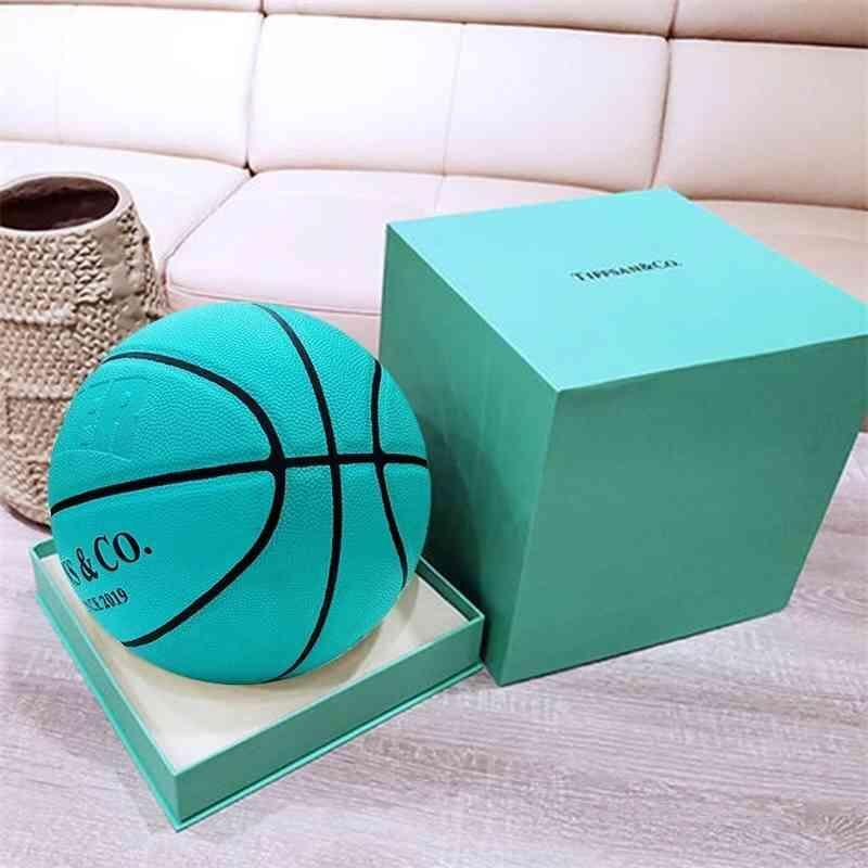 Basketball box blue ball 7 gift green basketball children No. 5