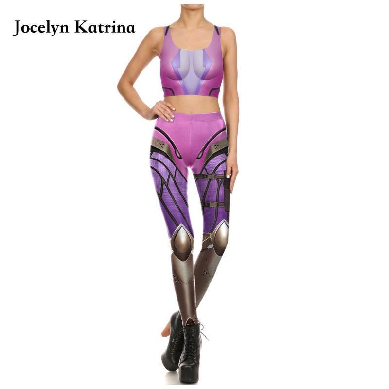 Женщины Cousssit Флористическая сетка Лоскутная бегущая одежда Фитнес Йога набор гонщик задние брюки 2 шт. Одежда для тренировки