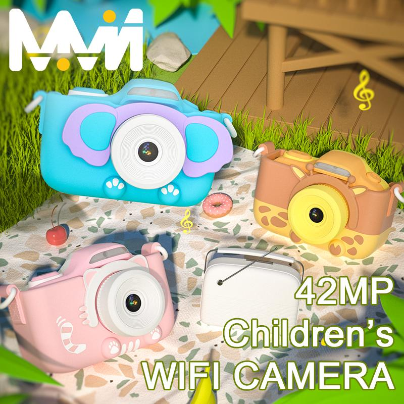 4k كاميرا الأطفال 3 '' شاشة تعمل باللمس كاميرا wifi لعب لفتاة بوي الأطفال هدية الاطفال التعليم لعبة الكاميرا