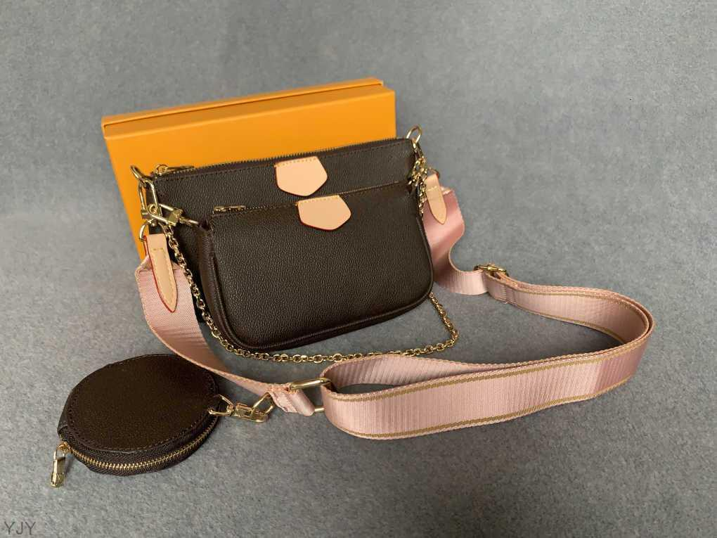 Outlet Sale 3 Handtaschen Yjy Leder Crossbody Tasche Münze Tote Stück Echte Geldbörsen Designer Dame Frauen Artikel Luxus Geldbörse Drei Taschen Set Hjujs