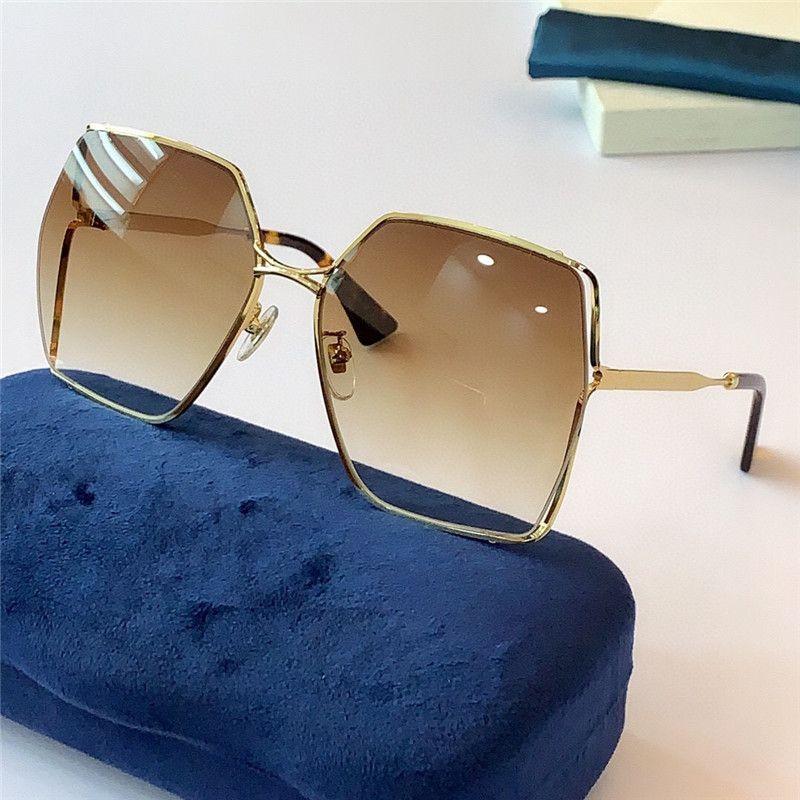 النظارات الشمسية للنساء كلاسيك الصيف الأزياء 0817S نمط المعادن ولوح الإطار نظارات العين أعلى جودة عدسة حماية الأشعة فوق البنفسجية 0817