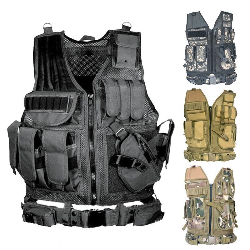 Outdoor USMC Tactical Vest Molle Combat Assault Plate Clothing 8 Colors CS Vest Hunting Tactical 7 Carrier