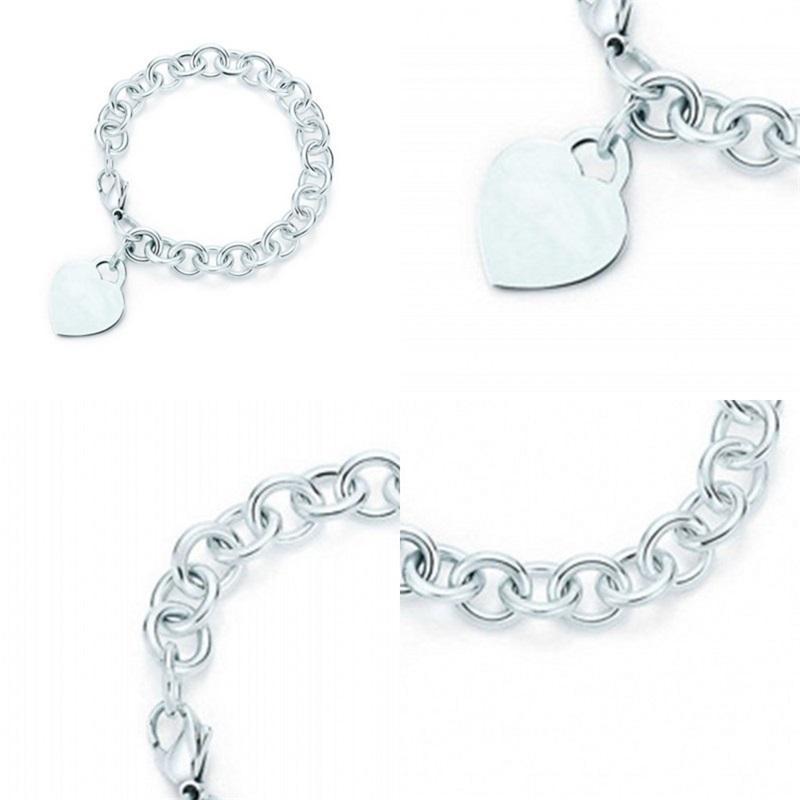 Charm for Gifts 925 Sterling Silver Heart Shaped Women's Elegant Tif Bracelet Lock Tif Bracelet Silverware Matching World 2 R2