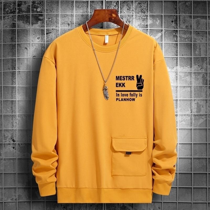Neue Harajuku Sweatshirts Männer Hip Hop Hoodie Männer Brief Druck Casual Sweatshirt Frühling Herbst Langarm Hoodie mit Tasche 201114