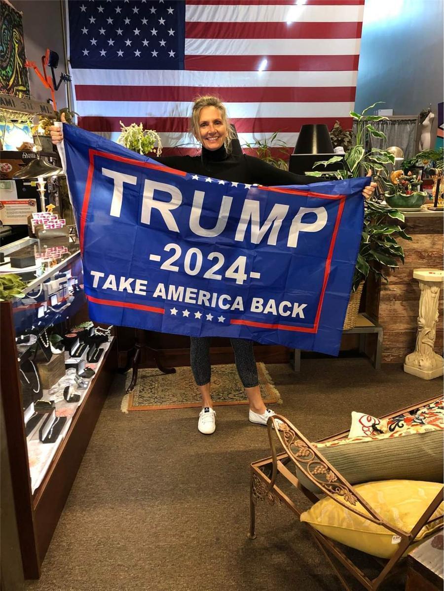 Trump 2024 Prendere America Back Black Bound Double Gun Flag 90 * 150 cm Elezione 2024 Bandiera Trump