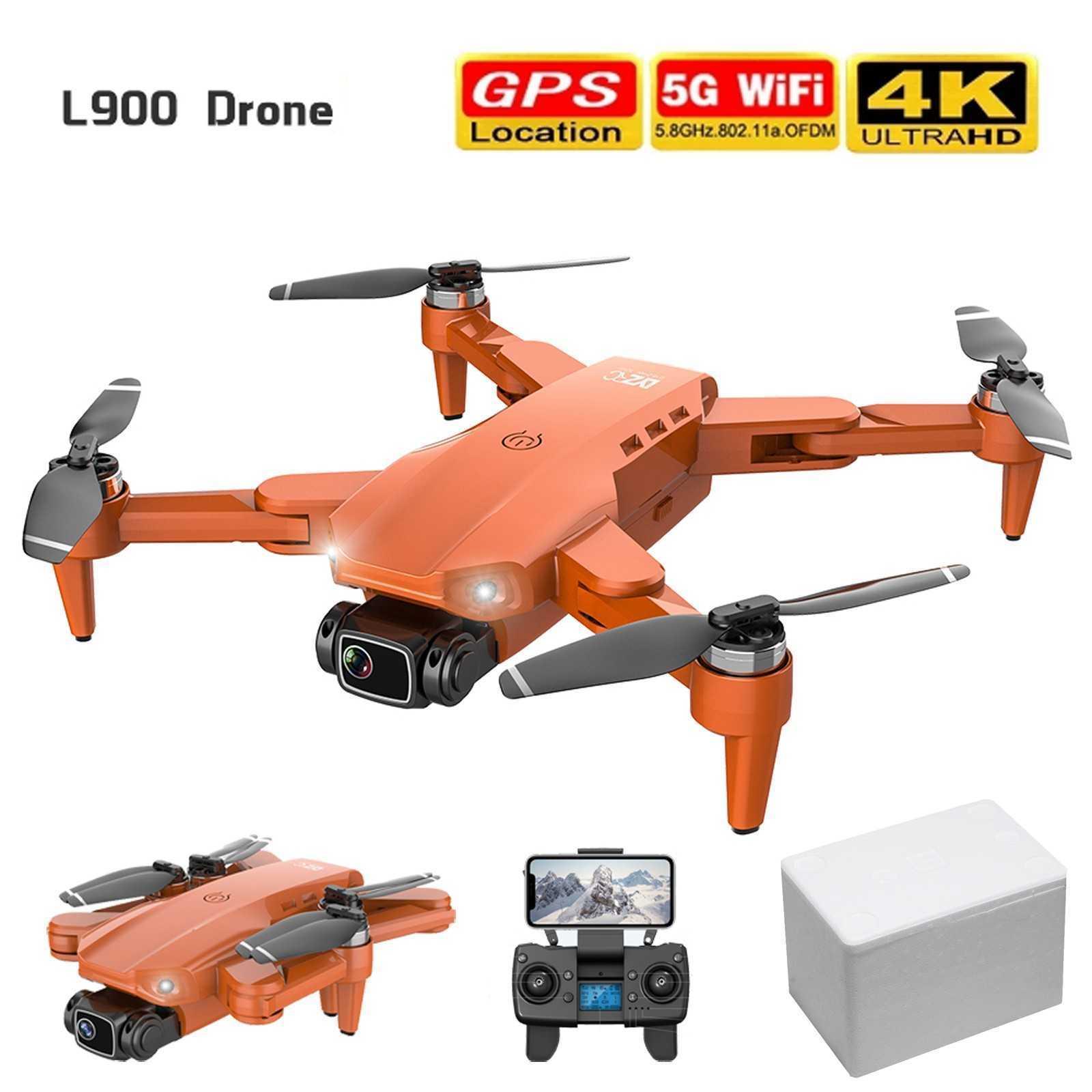UAV L900 برو 4K HD المزدوج الكاميرا مع GPS 5G WIFI FPV RC بدون طيار كوادكوبتر الجوي التصوير الجوي للتحكم عن بعد بدون طيار Q0602