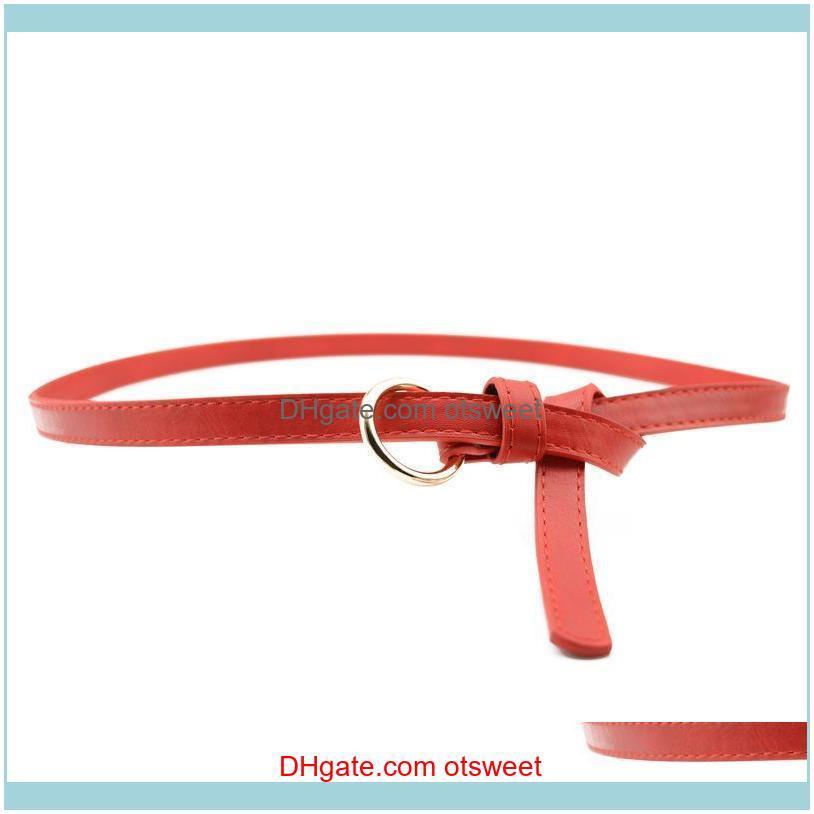 Cinturones Aessories Aessiesors Campos de cuero Cinturón Cinturón Femenino Moda Punk Jeans Salvaje Para La Cintura Drop Entrega 2021 GPY2O