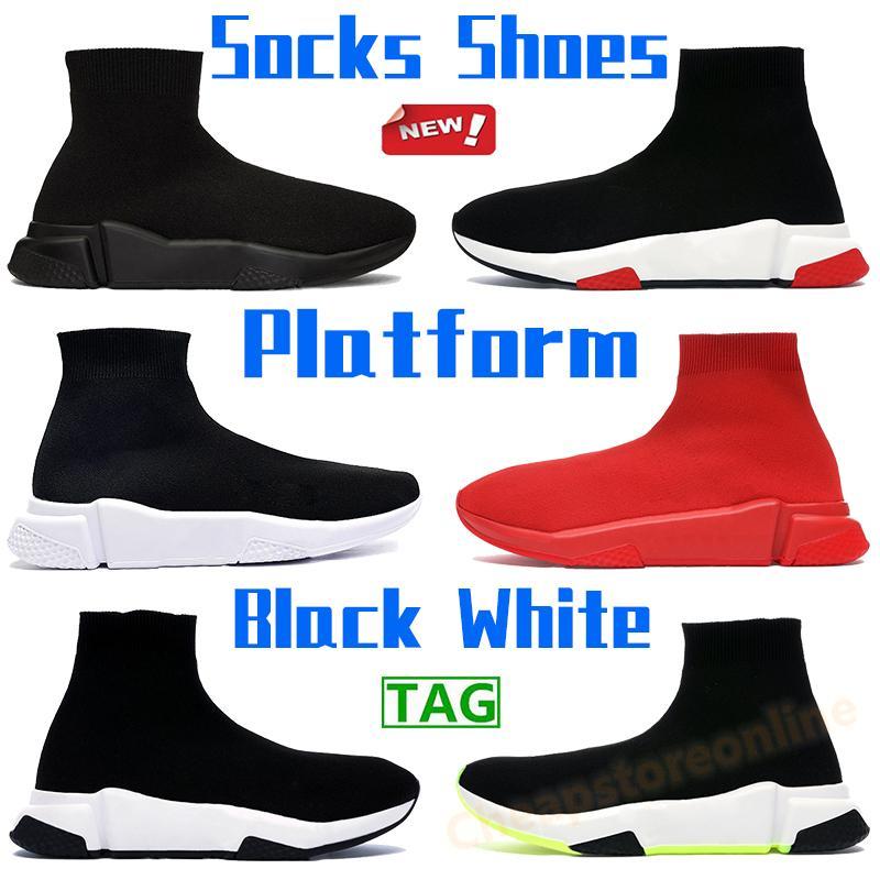 أعلى جودة الجوارب الأحذية باريس الرجال منصة حذاء عارضة أسود أبيض أخضر ثلاثي الأزياء الأحمر في الهواء الطلق رجل chaussures الولايات المتحدة 6-12