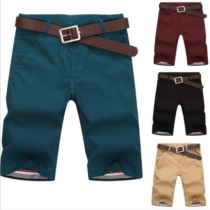 Мужские шорты досуга куриные шорты 7 цвет прямые свободные моды Mans короткие брюки днища