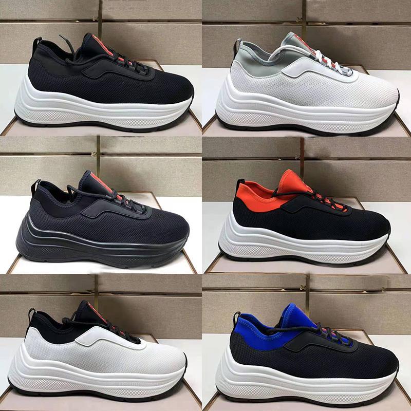 디자이너 신발 Toblach 기술 패브릭 스니커즈 블랙 화이트 트레이너 캐주얼 구두 맨 양말 부츠 고무 솔은 가볍고 융통스러운 러너 스니커리 상자 No295