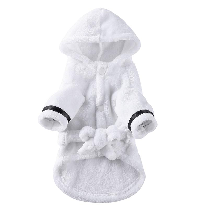 Dog Apparel Dogs Bathrob Pajamas Sleeping Clothes Soft Pet Bath Washing Drying Towel for Puppy Cats Pets Accessories
