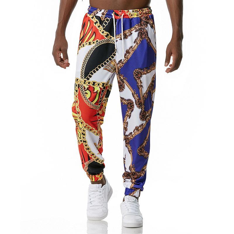 Мужские 3D печатные брюки активные спортивные Свободные тренировки бегущие спортивные штаны Мужчины фитнес трексуита повседневный тренажерный зал брюки K27