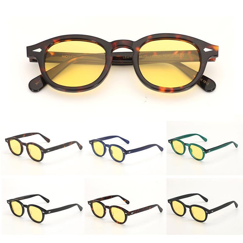 Óculos de visão noturna Johnny Depp óculos de sol polarizado lente protetora engrenagens de sol óculos anti brilho visão noturno Drivers Óculos de proteção