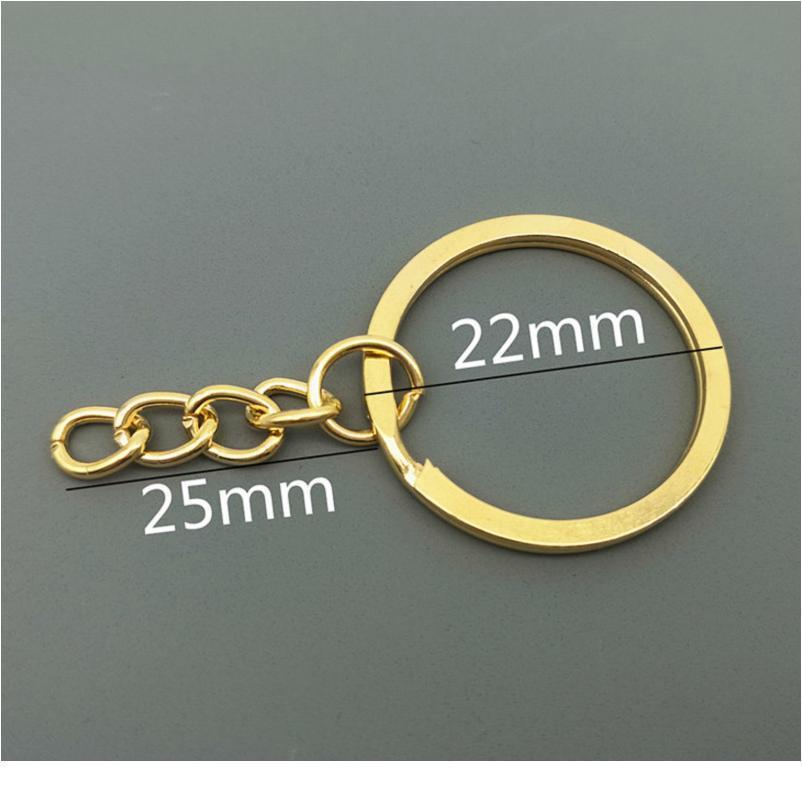 Venta al por mayor 10 unids / lote llaveros de metal llaveros con claves de langosta oro / rodio tono tono llaveros divididos anillos k jltxa