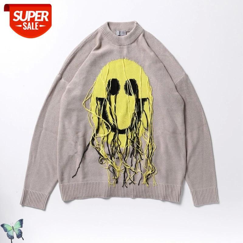 Kanye west cpfm.xyz suéter de tejido hombres mujeres urbano streetwear suéter kanye west fashion de alta calidad casual lana # J66N
