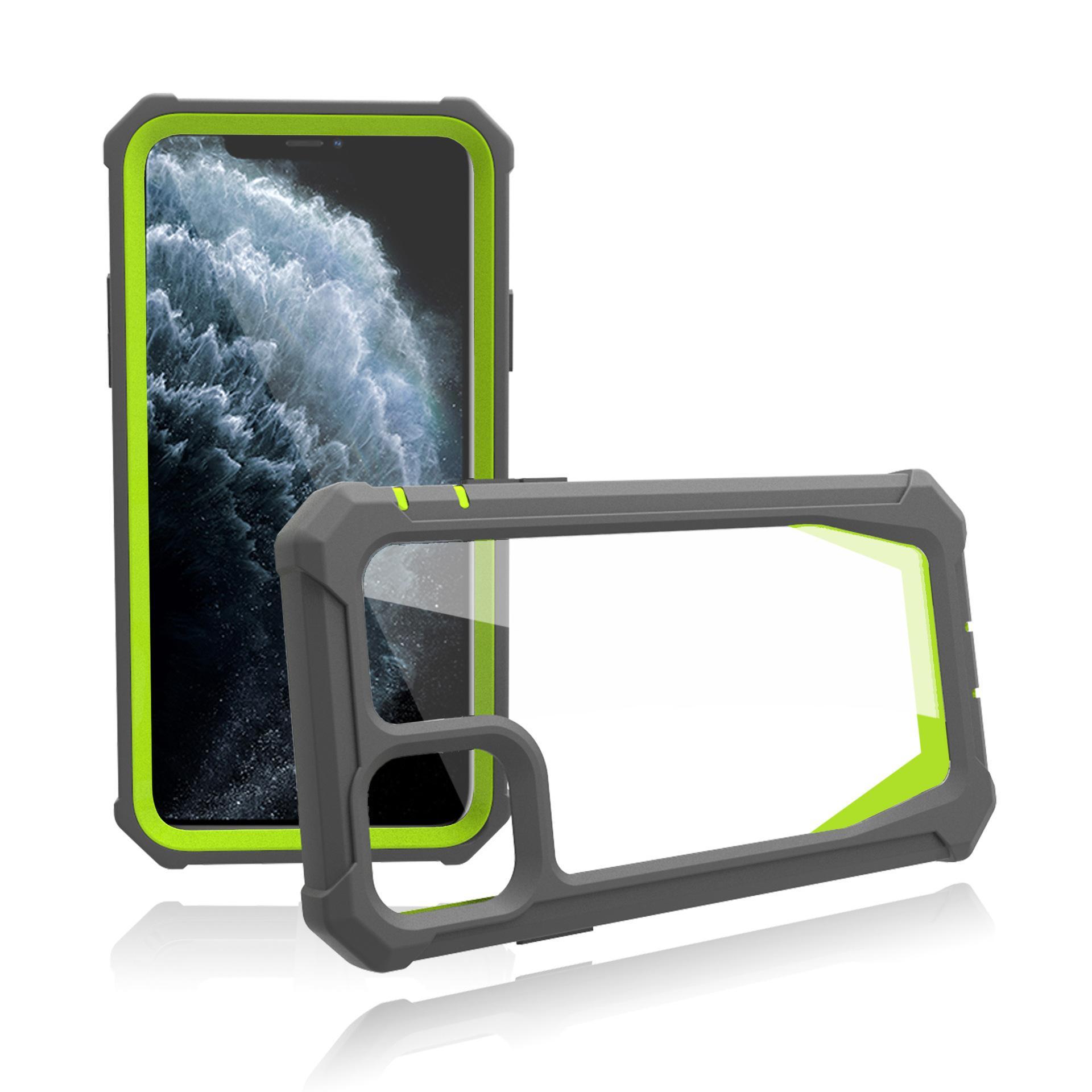 Stoßfänger Stoßfest Transparente Telefongehäuse für iPhone 11 12 PRO MAX XR 8 7 Plus Schutzhülle Mantel Antimall kratzfest vier Eckschutz