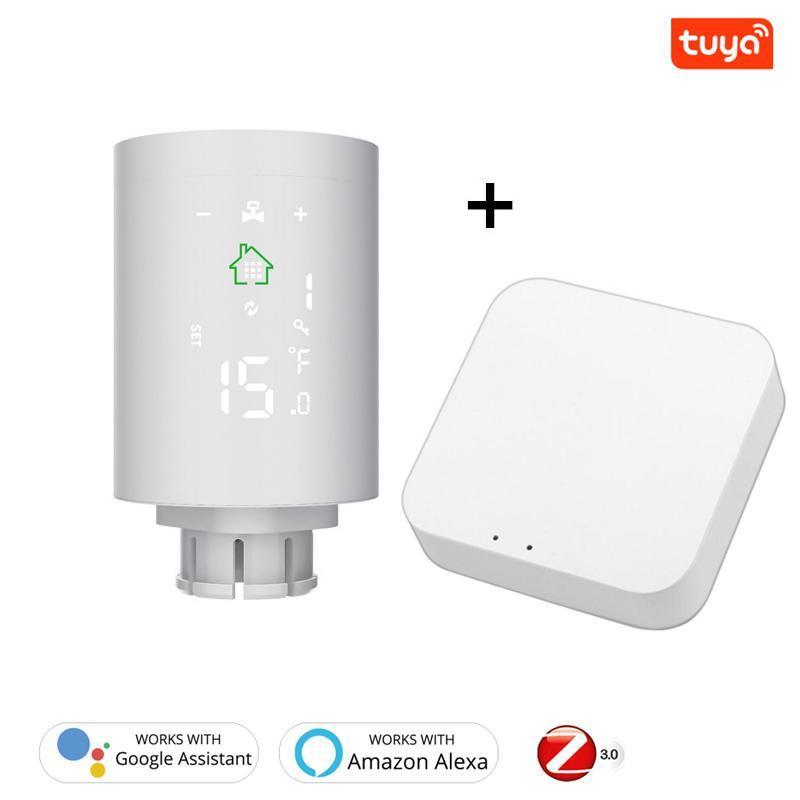 Smart Home Control TUYA ZigBee3.0 Kühleraktuator programmierbare thermostatische Ventil Temperaturregler Stimme mit Alexa