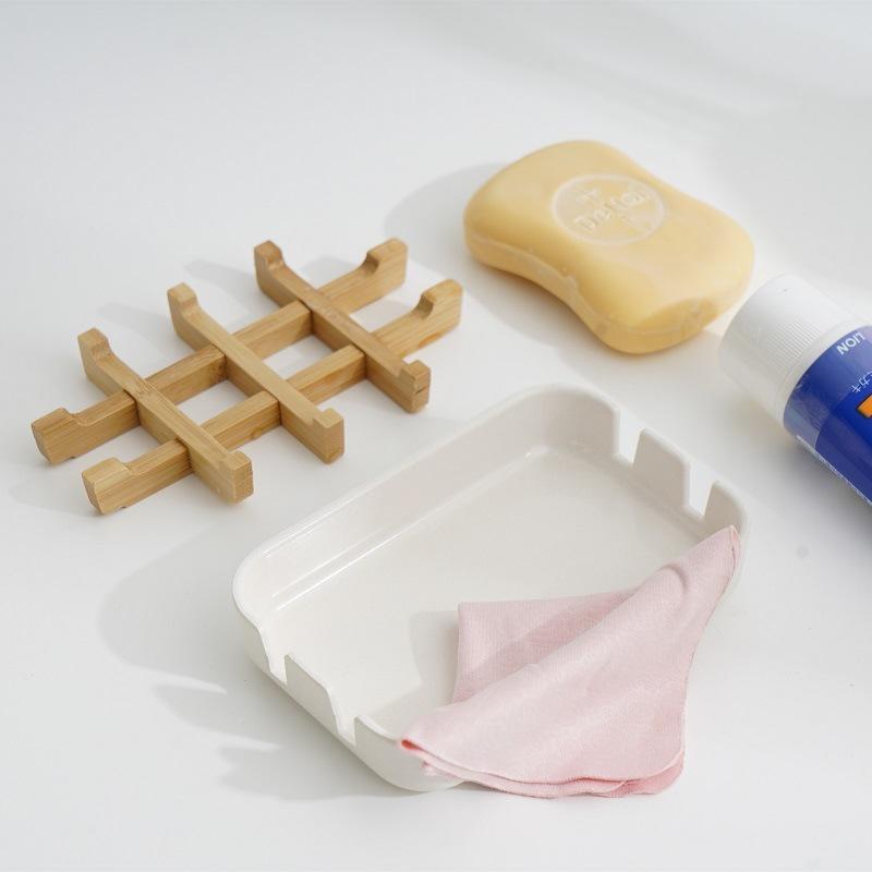 Yeni SOAP Çanak Kutusu Ahşap Plastik Kutu Çanak Kılıfı Konteyner Kutusu Banyo Seyahat Taşıma Case için FWB5419