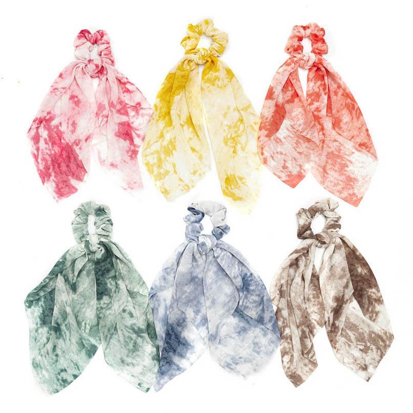 Girls Cheveux Cravate Enfants Bandes à cheveux Fashion Scrunchies Longues Bandes de cheveux Enfants Accessoires pour cheveux Bows Filles Accessoires B3912