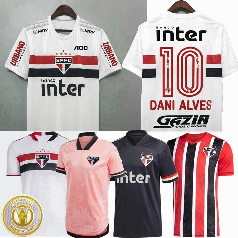2020 2021 2022 Sao Paulo Soccer Jerseys Sao Paulo Luciano Liziero Pato Pablo Dani Alves 20 21 22 Hombres de fútbol Mujeres Mujeres y Camisa para niños