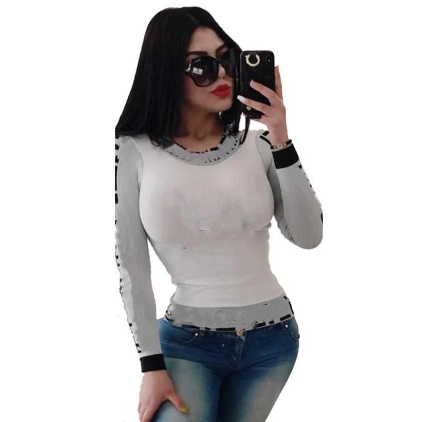 Summer Clothes 2 Long Sleeve T-shirts Designer Women Tops Ladies Tees XL Plus Size Top Hot Sale Free Shipping 4511
