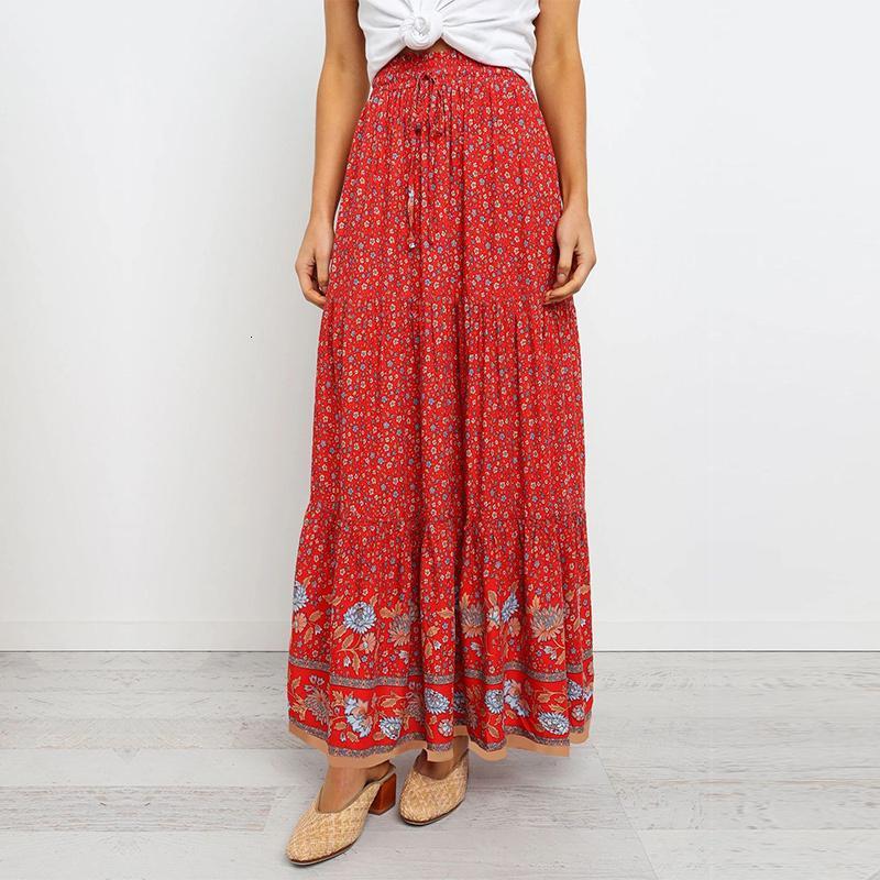 2021 primavera verão lace up cópia mulheres moda algodão uma linha casual saia longa nova 3my1