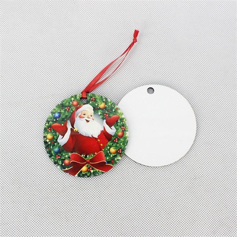 2021 حار التسامي MDF عيد الميلاد الحلي ديكورات جولة مربع شكل ديكورات نقل الساخنة الطباعة فارغة الاستهلاكية 59 v2