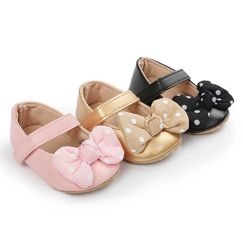 طفلة أحذية النقاط الانحناء الأحذية الوليد 0-1T الأميرة طفل أحذية الأخفاف الناعمة الأولى ووكر حذاء الطفل الأحذية B4080