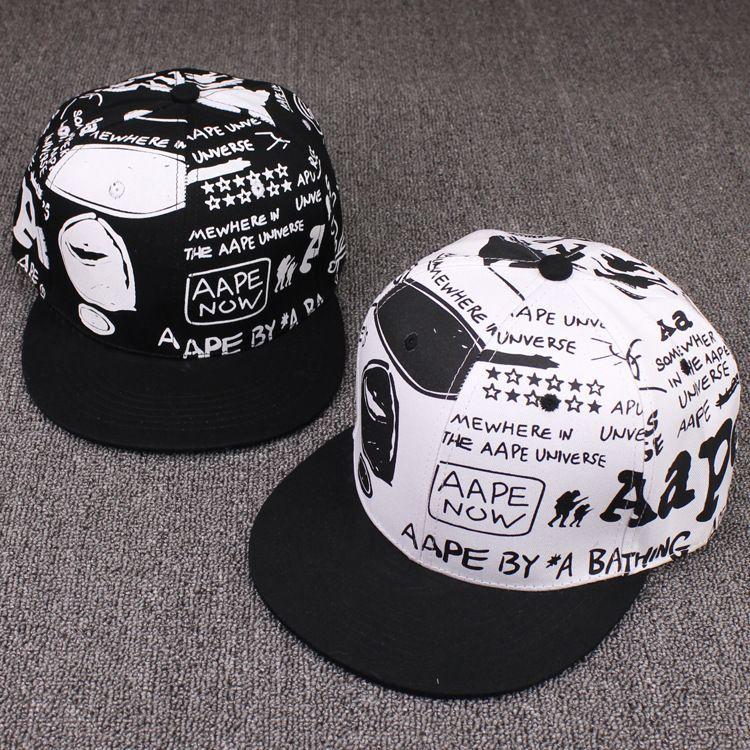 Macaco graffiti amantes beisebol coreano moda primavera e verão homem senhora hip hop chapéu