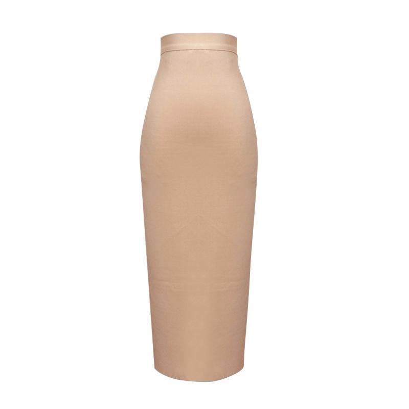 13 cores Nova Moda Mulheres Sexy Rosa Amarelo Bandage Saia Elastic Elegant Lápis Saias 210305