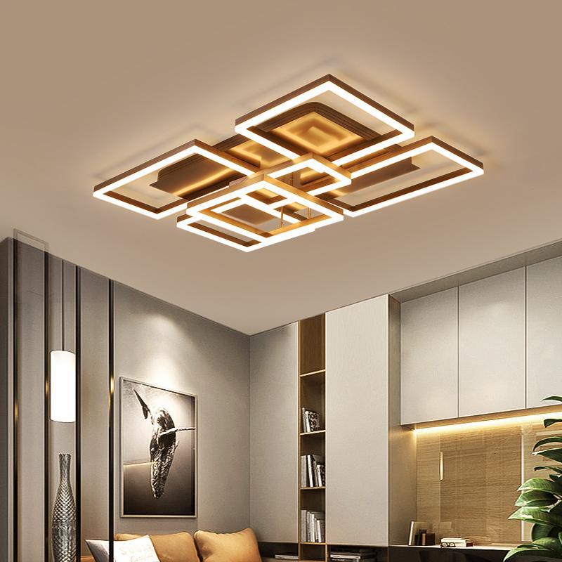 New Ceiling Led Squared to Modern Living Room Dining Kitchen Design Suspension Lamp Vozb