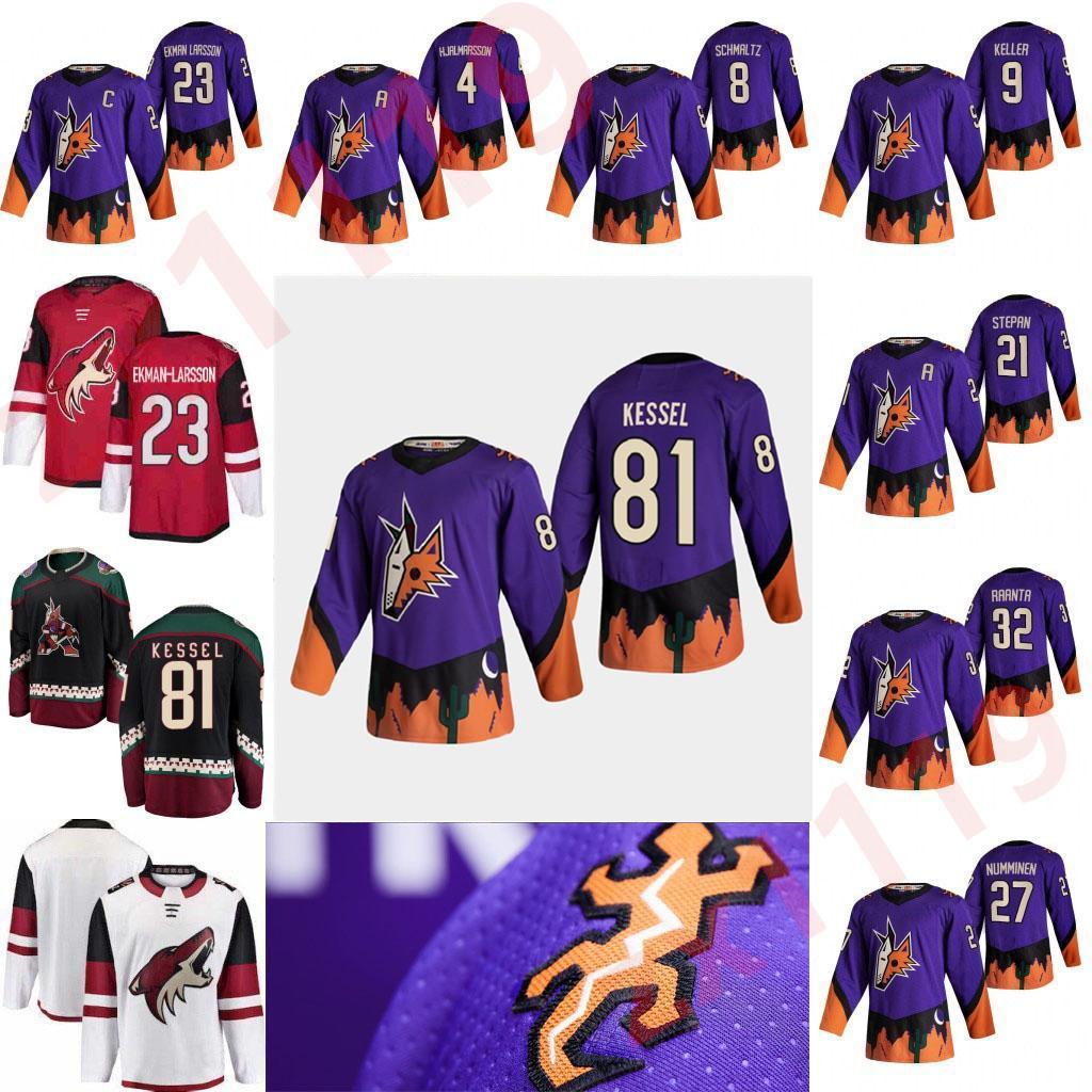 2021 Reverse Retro Arizona Coyotes Hockey Jerseys John Hayden Jersey Johan Larsson 타일러 Pitlick Adin Hill 81 Phil Kessel Custom Stitched