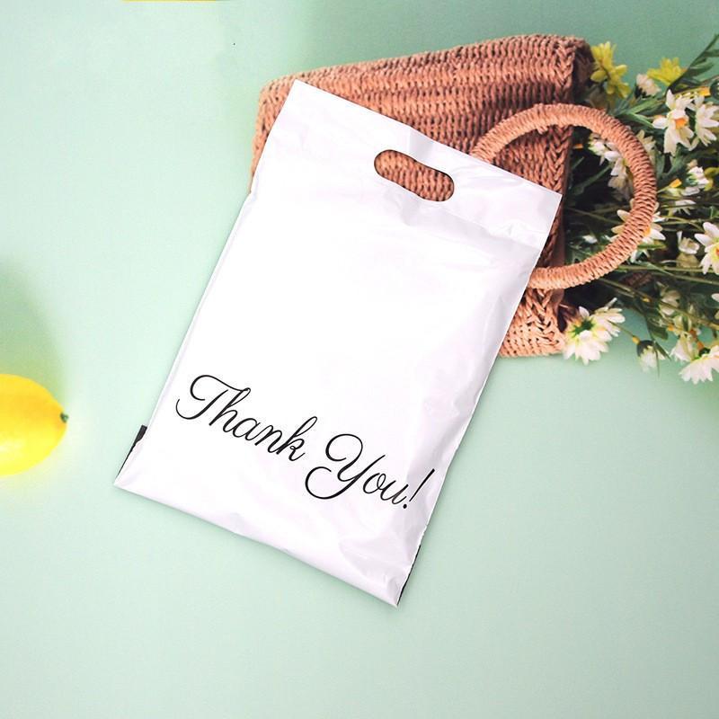 소포 패키지 가방 다채로운 핸들 플라스틱 배송 셀프 접착제 익스프레스 파우치 GGA4240