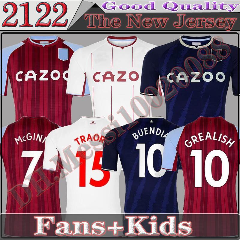 21 22 Футбольные трикотажные изделия Buendia Cash 2022 Bailey Watkins Wesley El Ghazi Mcginn Els Trezeguet Mens Jersey Kity Kit